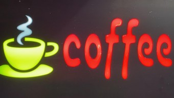 Reclama LED - COFFEE - de exterior