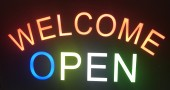 Reclama LED - WELCOME OPEN - de exterior